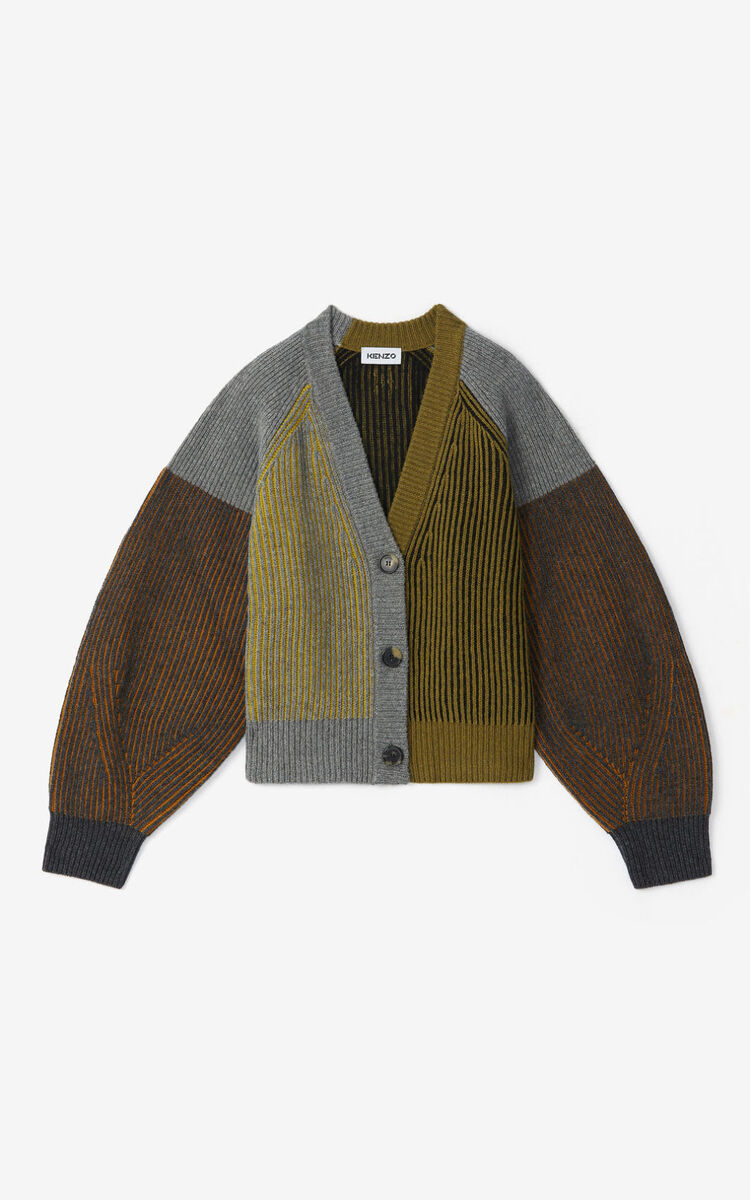 STONE GREY 'Fisherman' cardigan for women KENZO