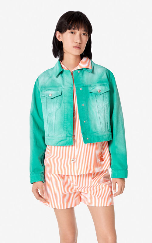 AQUA Denim jacket for women KENZO
