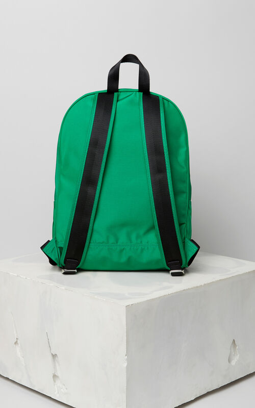 GRASS GREEN Large Tiger Canvas backpack for unisex KENZO