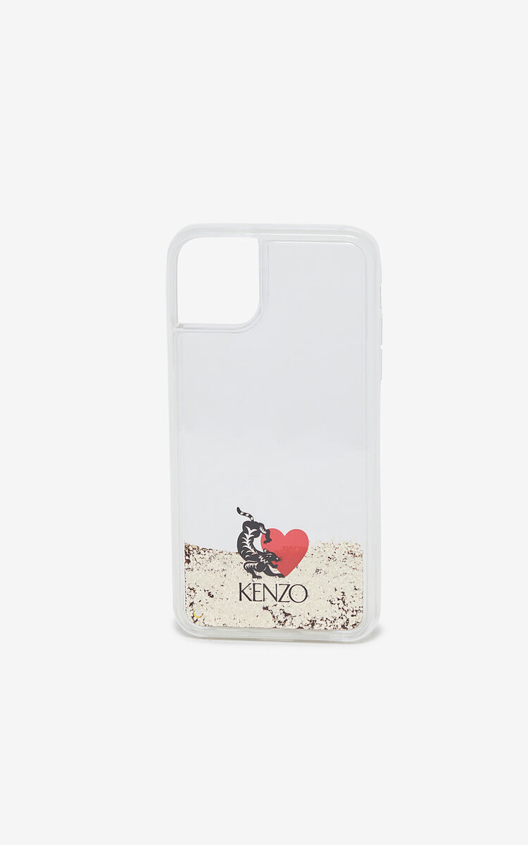 TRANSPARENT 'Valentine's Day capsule' iPhone XI Pro max case for women KENZO