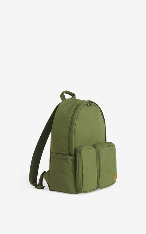 KHAKI Tiger Crest backpack for unisex KENZO