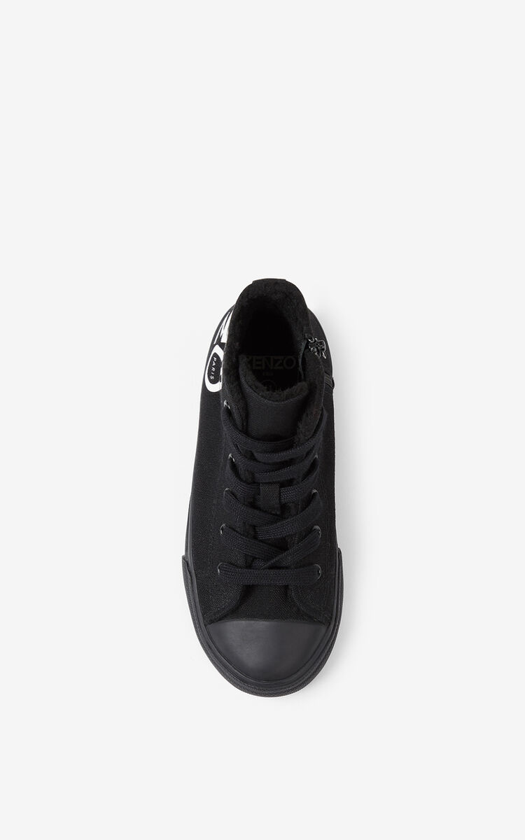 BLACK 'Ventura' high-top sneakers for men KENZO