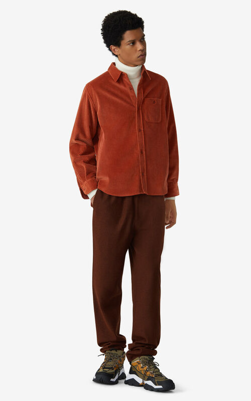 COGNAC Wool jogging trousers for men KENZO