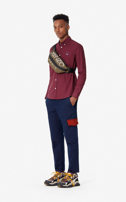 BORDEAUX Casual Tiger shirt for men KENZO