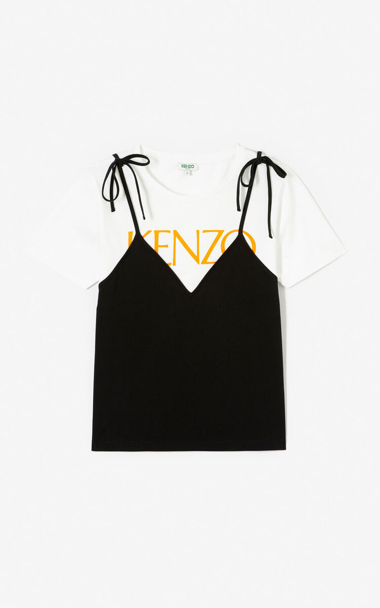 BLACK 2-in-1 T-shirt for women KENZO