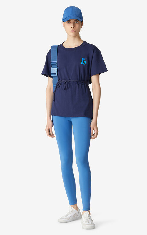 MIDNIGHT BLUE KENZO Sport 'Blocked 'K' t-shirt for women