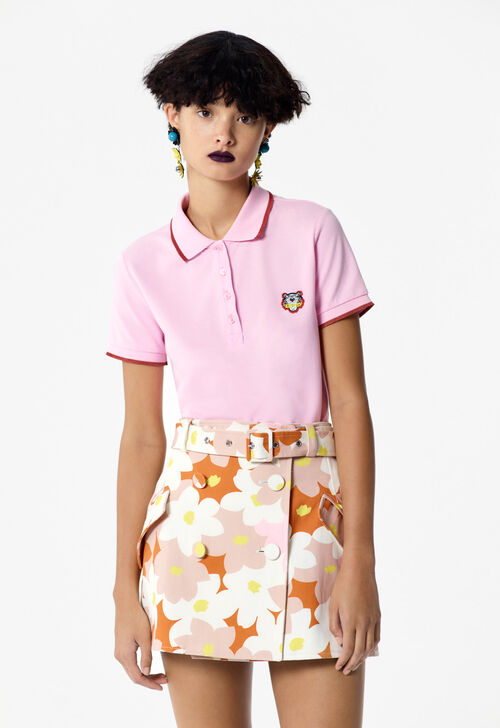 FLAMINGO PINK Tiger Polo Shirt for women KENZO