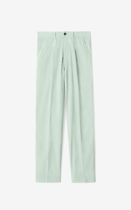 SAGE GREEN Chino trousers  for unisex KENZO