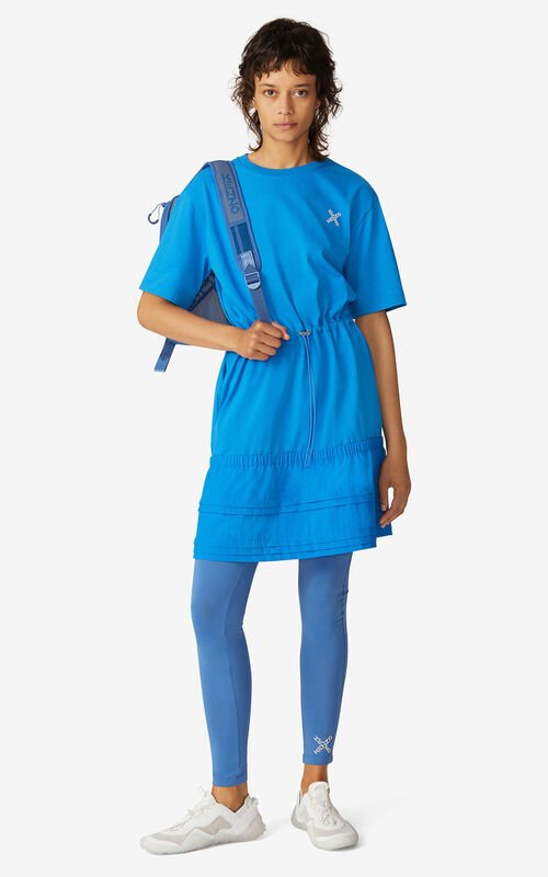 CYAN KENZO Sport 'Little X' dual-material dress for men