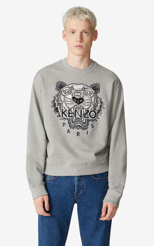 PEARL GREY Tiger sweatshirt for men KENZO