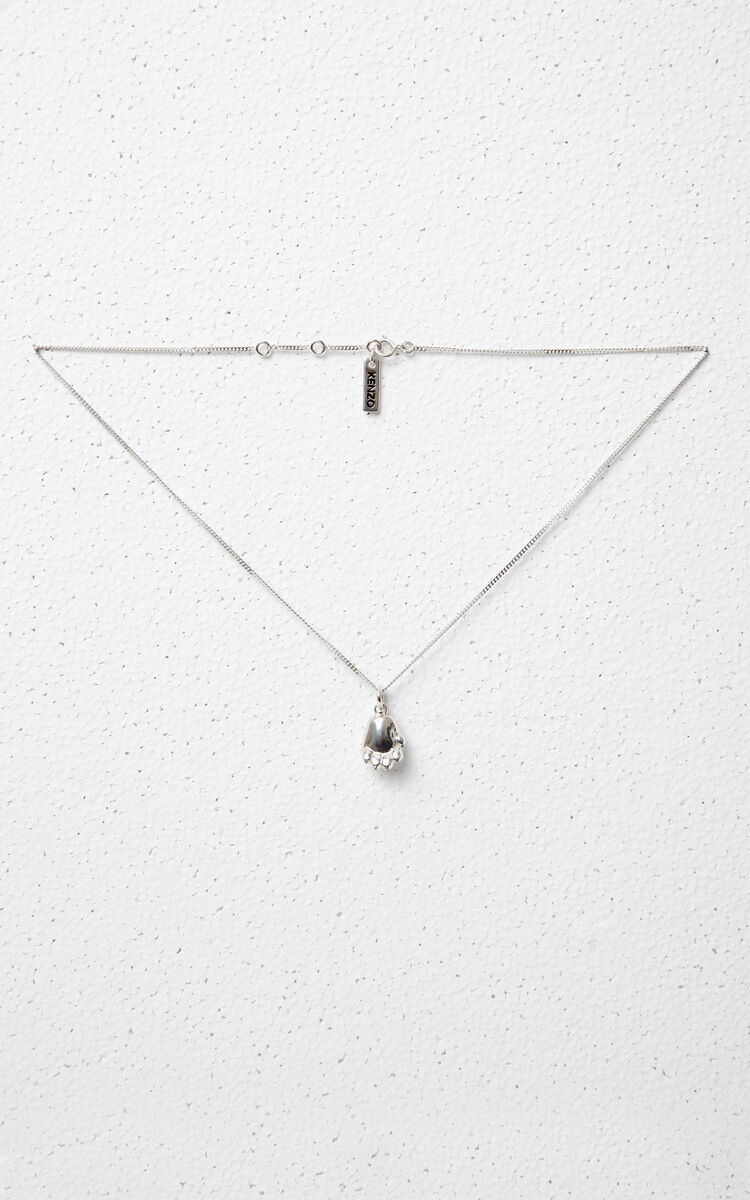 SILVER Tiger Paw Necklace for women KENZO