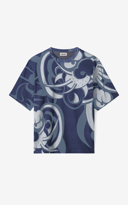 BLUE KENZO x KANSAIYAMAMOTO oversized t-shirt for women