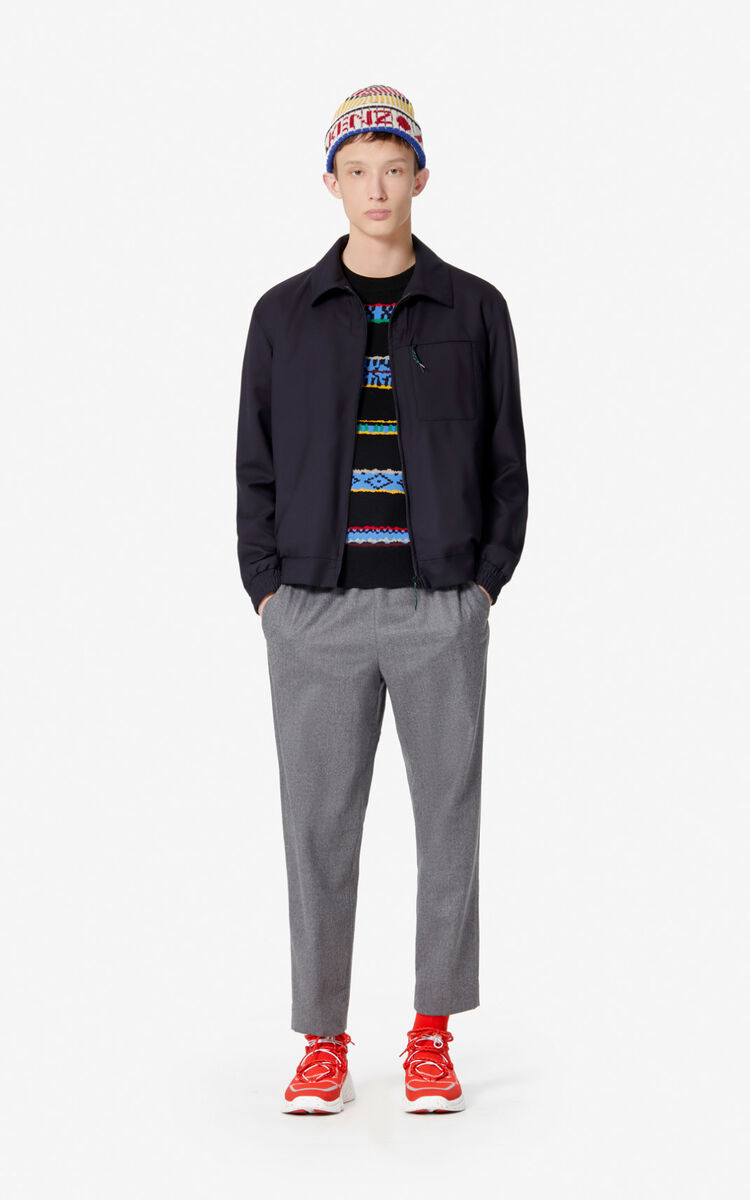 MIDDLE GREY Flannel trousers for men KENZO