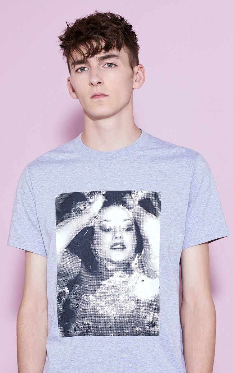 PEARL GREY 'Pat Cleveland' T-shirt for men KENZO
