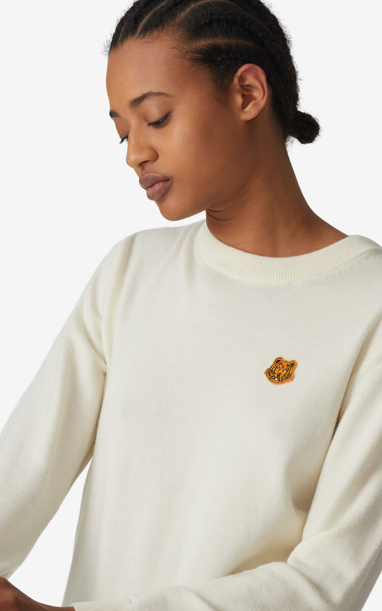 ECRU Tiger Crest jumper  for women KENZO