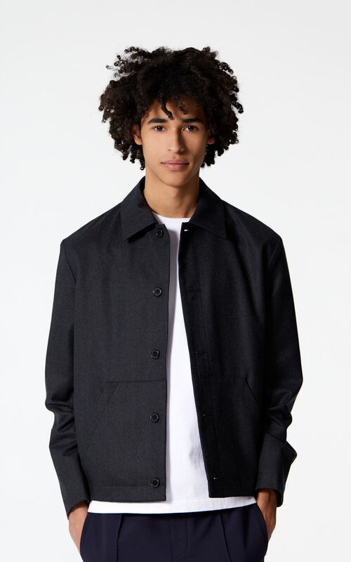 MIDNIGHT BLUE Reversible shirt jacket for men KENZO