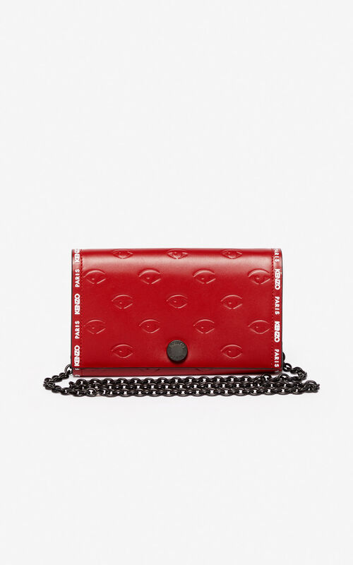 CHERRY Blink Eye chain wallet for unisex KENZO