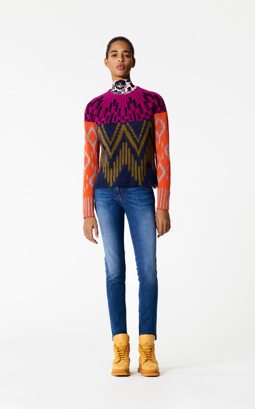 PALE KHAKI Multicolored sweater for women KENZO