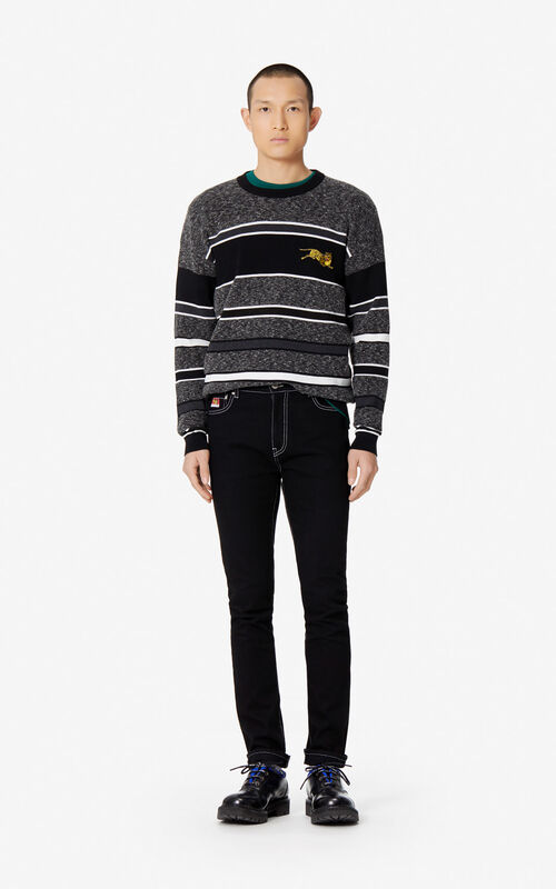 BLACK 'KENZO Mountain' skinny jeans for men
