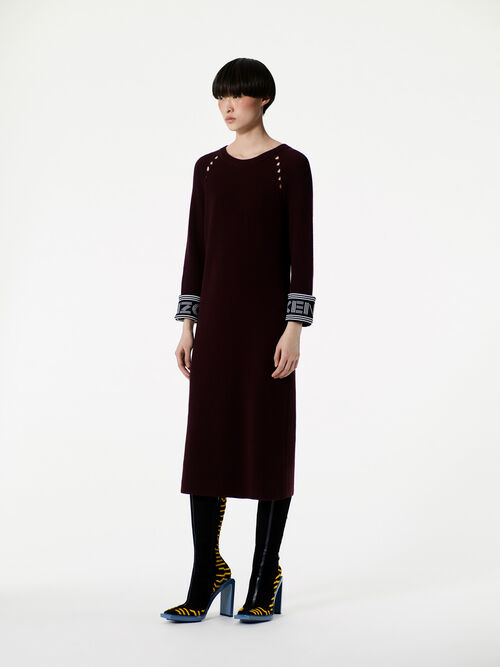 CHOCOLATE KENZO rib-knit midi dress  for women
