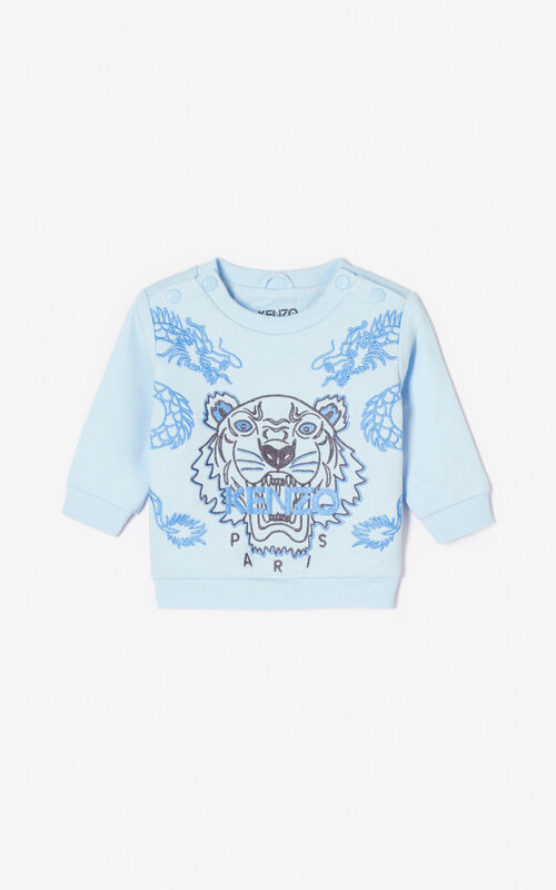 LIGHT BLUE 'Dragon Tiger' sweatshirt for women KENZO