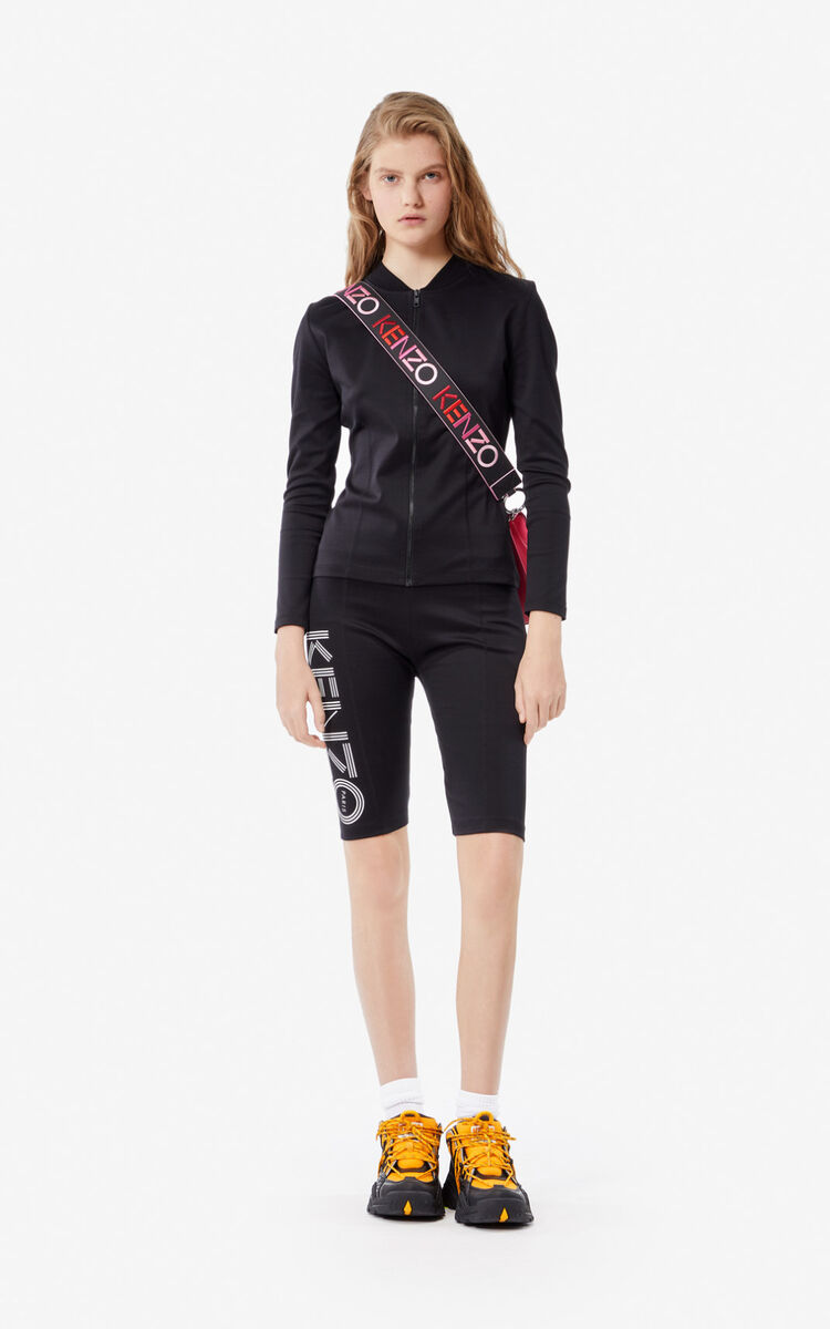 BLACK KENZO logo zipped jacket  for women