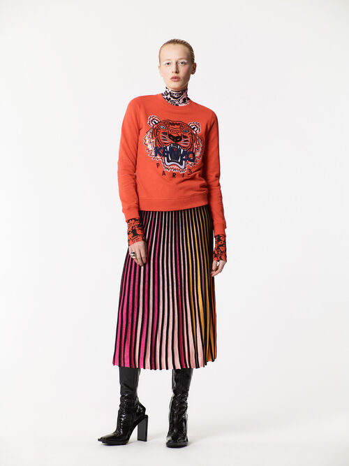 MEDIUM ORANGE Tiger Sweatshirt for women KENZO