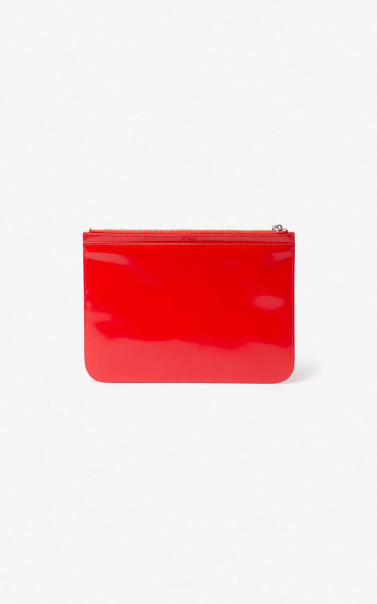 MEDIUM RED Tiger A4 clutch for women KENZO