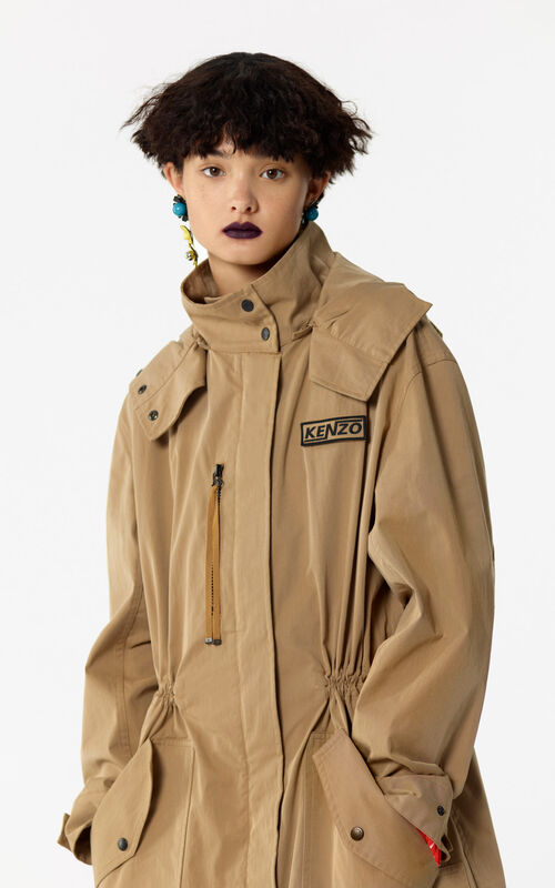 CHESTNUT 'Hyper KENZO' hooded light parka for women