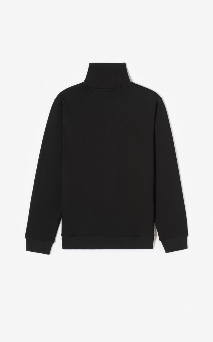 BLACK 'Tiger Mountain' 'Capsule Expedition' zipped sweatshirt for men KENZO