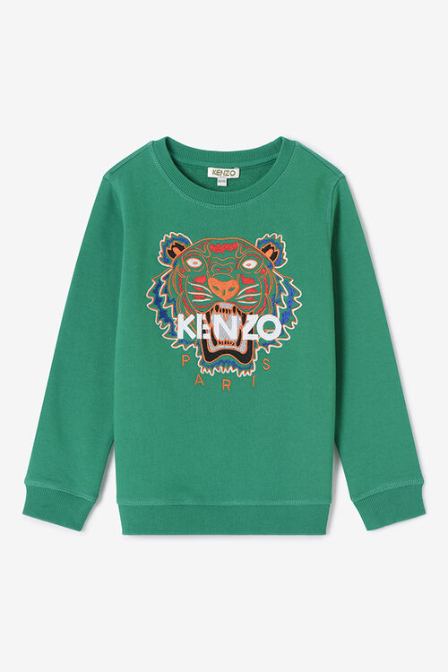 GREEN Tiger Sweatshirt for men KENZO
