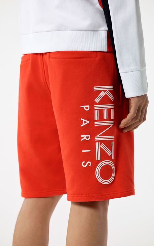 MEDIUM RED KENZO Logo Shorts for men