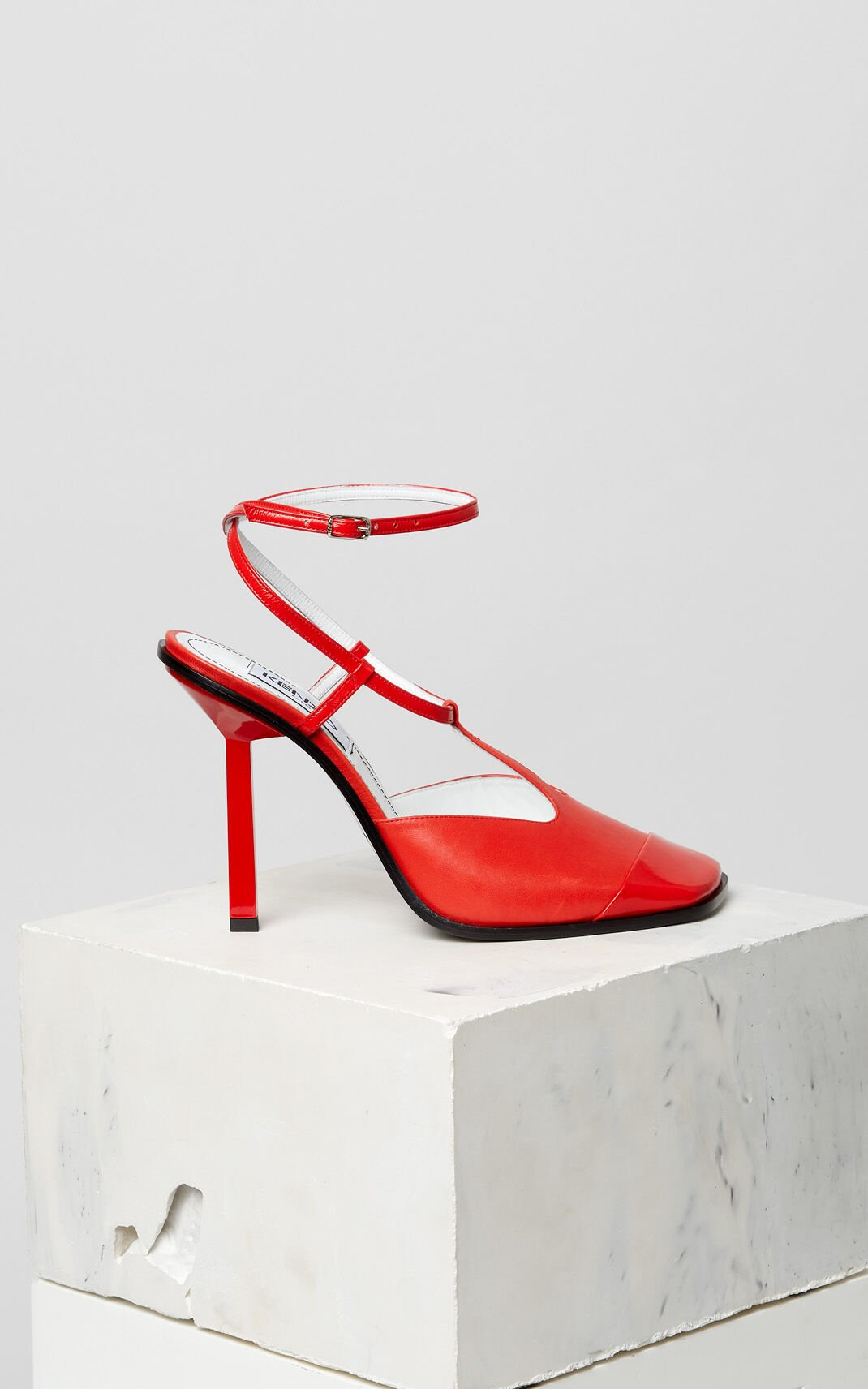 MEDIUM RED Nappa leather heeled shoes for women KENZO