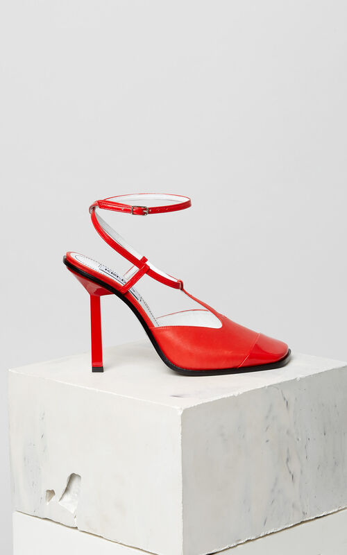 MEDIUM RED Nappa leather heeled shoes for unisex KENZO