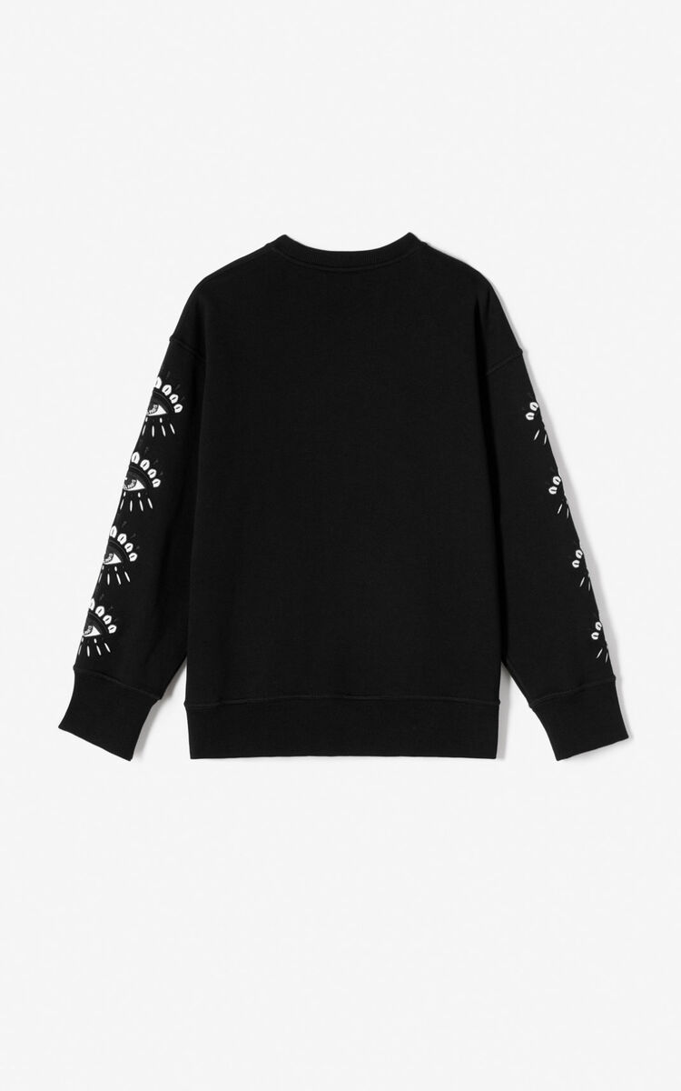 BLACK Multi Eye sweatshirt for women KENZO