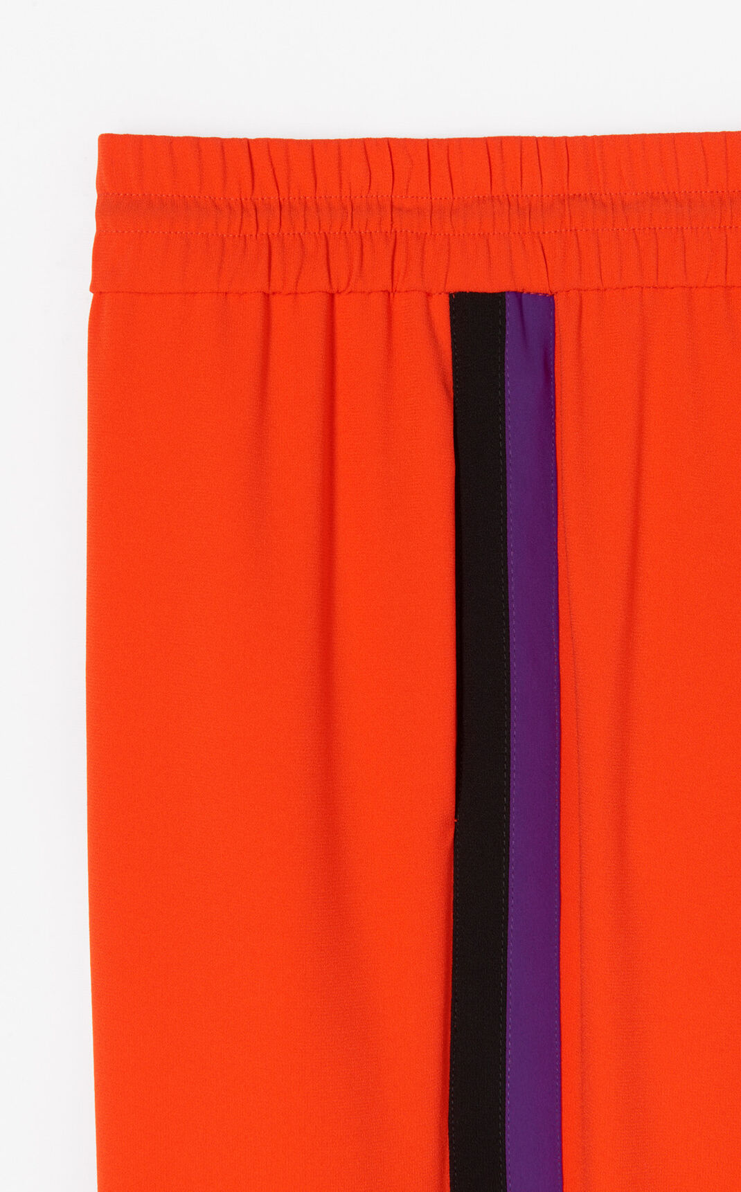 MEDIUM RED Crepe colourblock trousers for women KENZO
