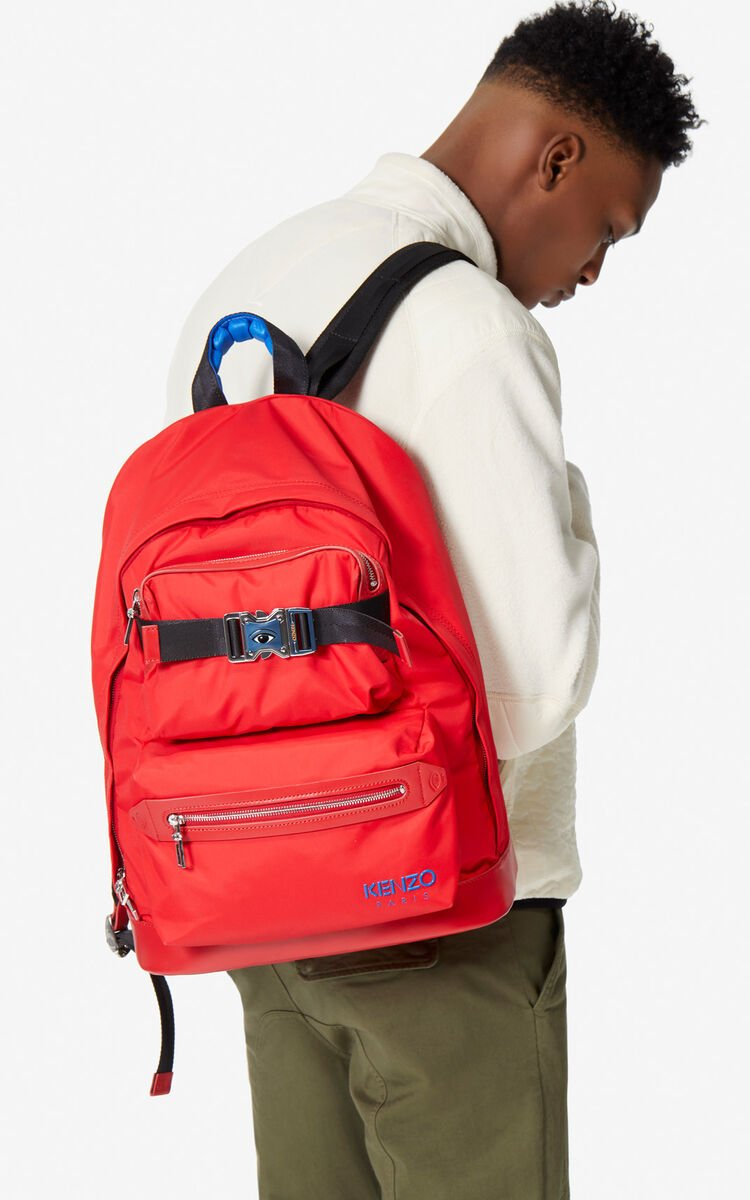 MEDIUM RED Large 'KENZO Link' backpack for unisex