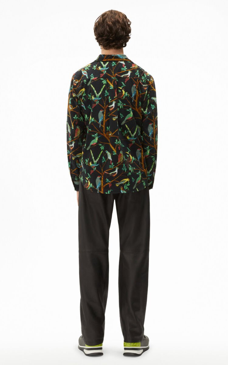 BLACK 'Tapestry of birds' casual shirt for women KENZO