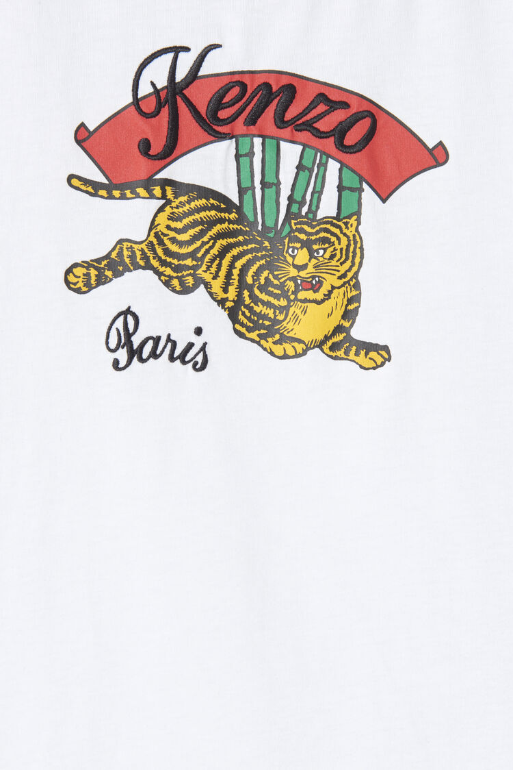 WHITE 'Bamboo Tiger' t-shirt for women KENZO