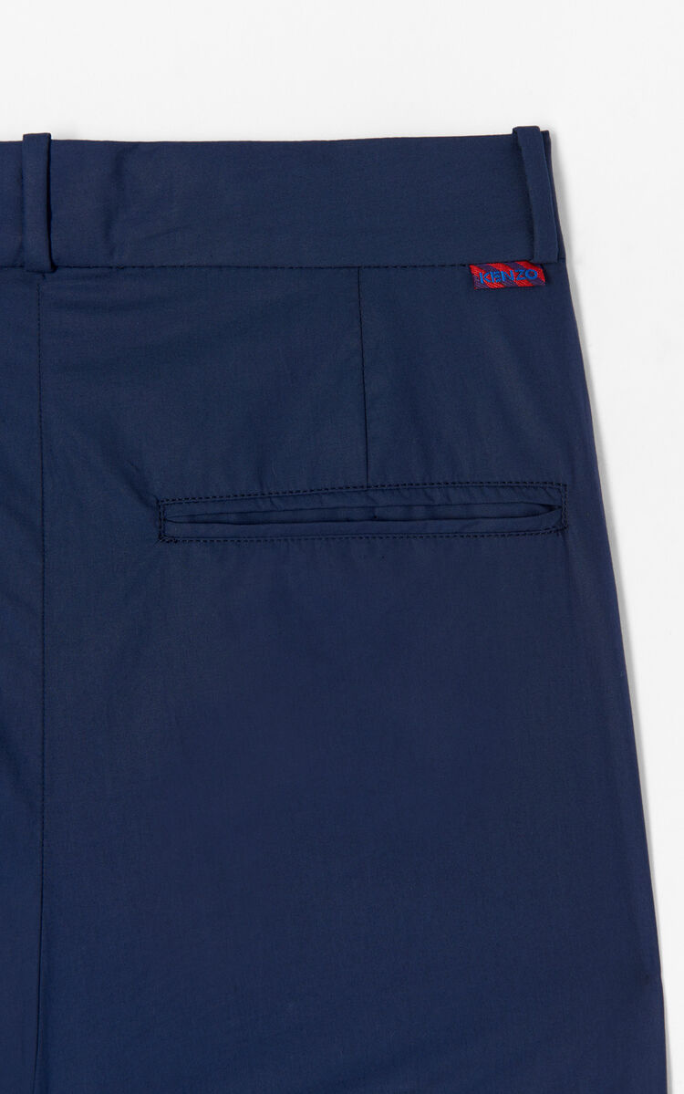 NAVY BLUE Hight waisted pant for men KENZO