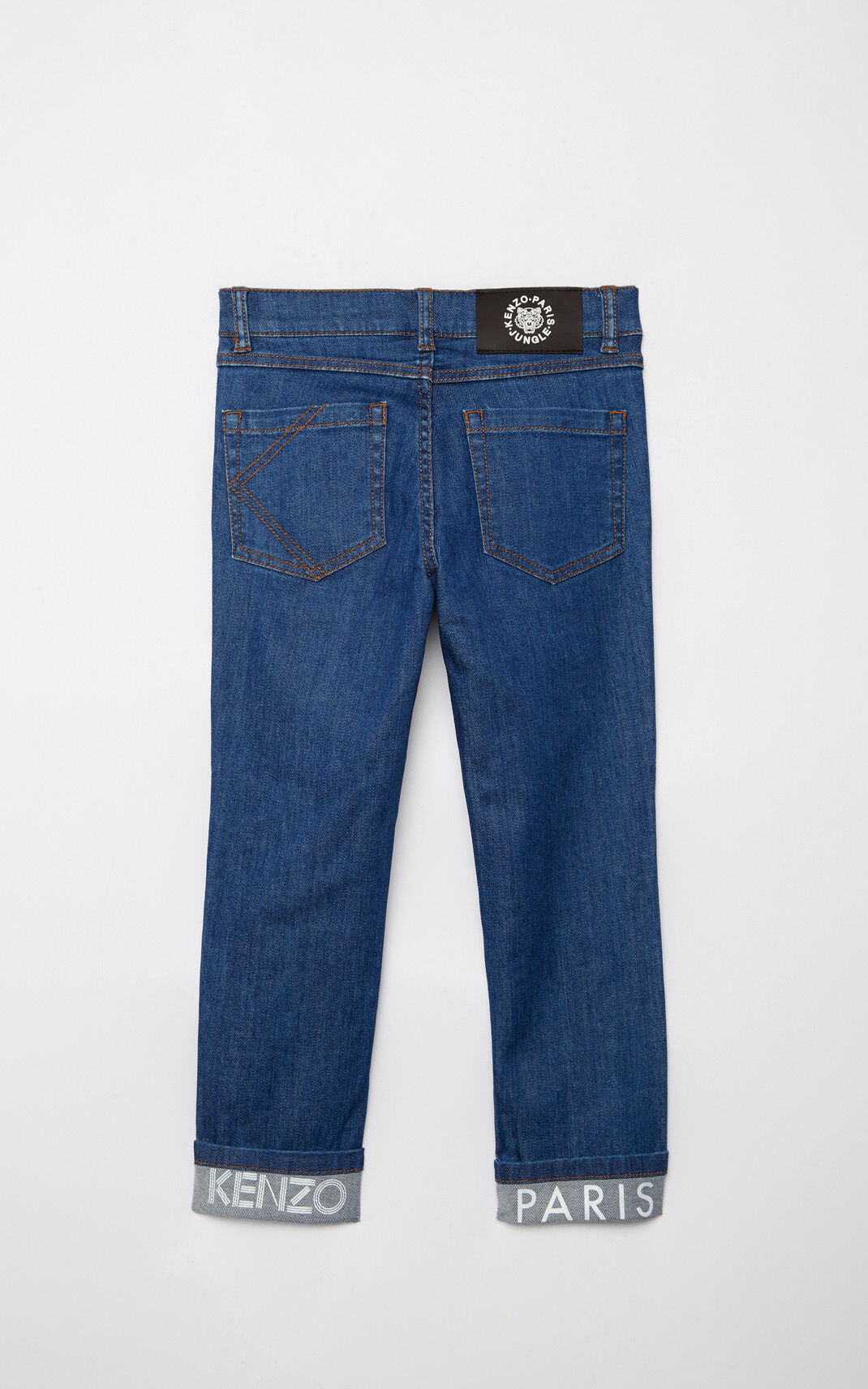 FRENCH BLUE KENZO logo skinny jeans for men