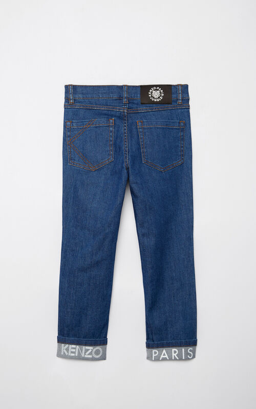 FRENCH BLUE KENZO logo skinny jeans for women