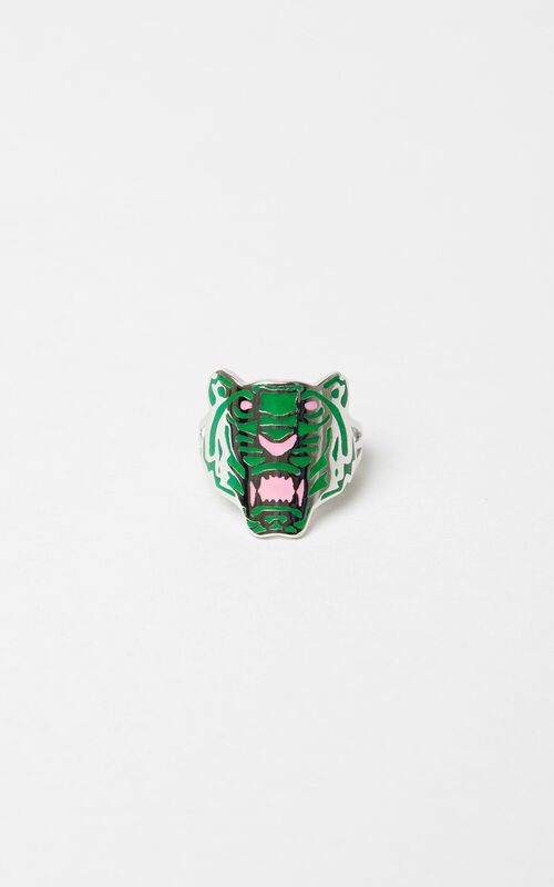 MEDIUM RED Colored Tiger ring for women KENZO