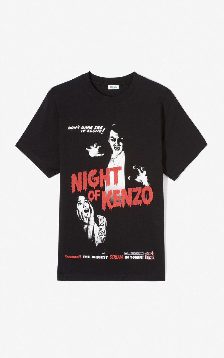 BLACK 'Movie Posters' T-shirt for men KENZO