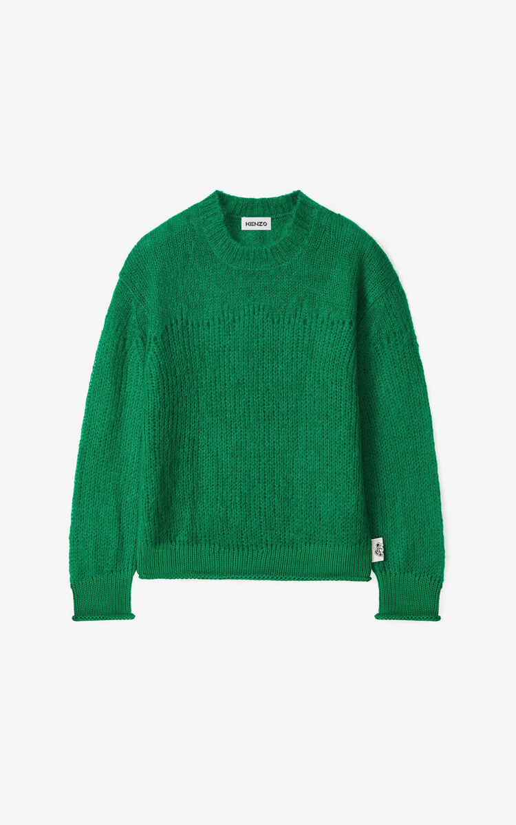 GREEN Mohair jumper for men KENZO