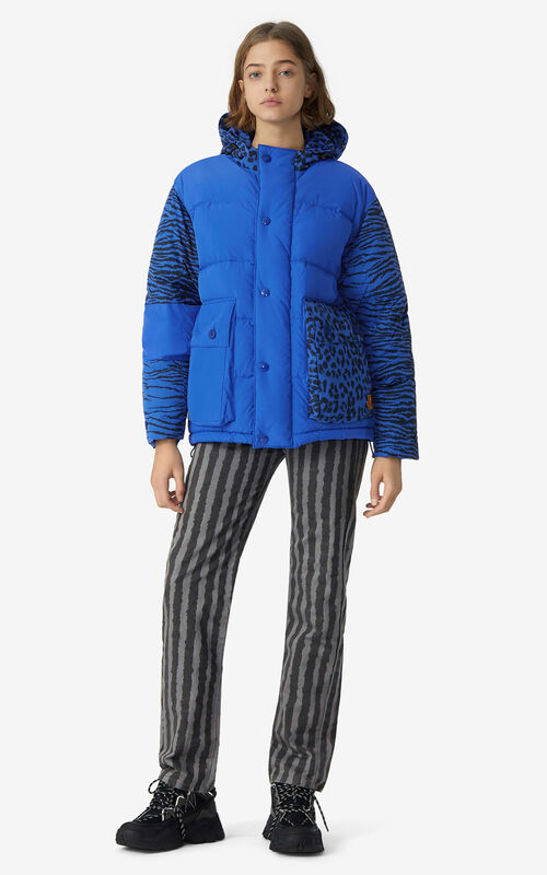 ROYAL BLUE Puffer jacket for men KENZO