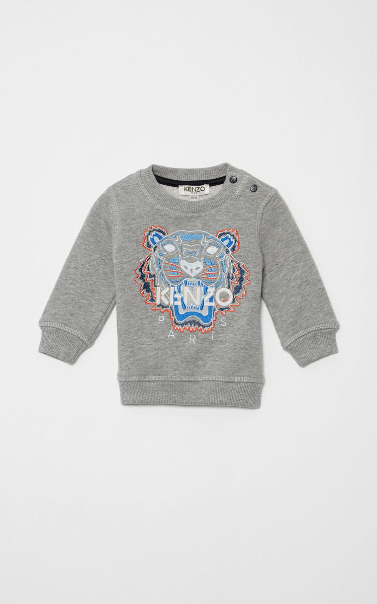 MIDDLE GREY Tiger sweatshirt for men KENZO