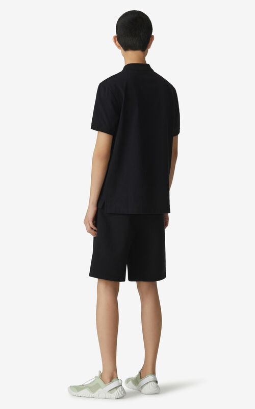 BLACK KENZO Sport 'Little X' shorts for men