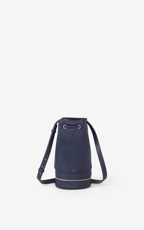 CYAN 'Poppy' tote bag and leather bucket bag       for unisex KENZO