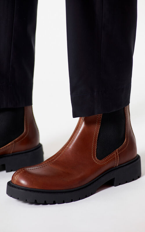 DARK CAMEL Chelsea Pike Boots for men KENZO